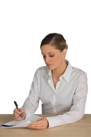 filling in: Employee filling in document
