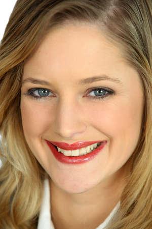 soulful eyes: blonde woman face