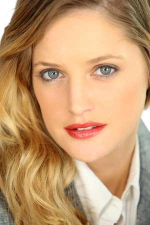 beauteous: close-up portrait of dainty blonde