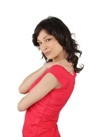charm: Portrait of flirtatious brunette woman Stock Photo