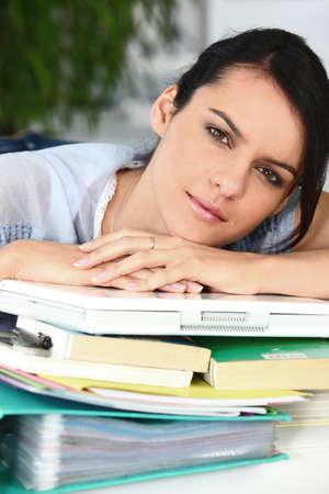 classifier: Overworked woman