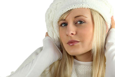 beautiful young woman wearing winter clothes Stock Photo - 14213910