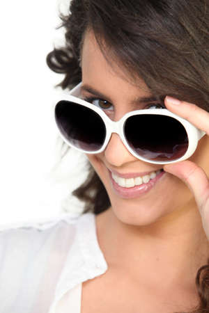 a woman wearing sunglasses Stock Photo - 14211265