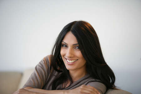 A smiling young woman photo