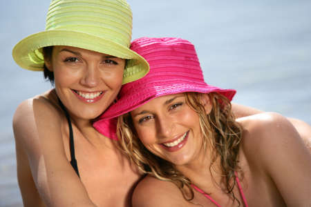Best friends at the beach Stock Photo - 14211322