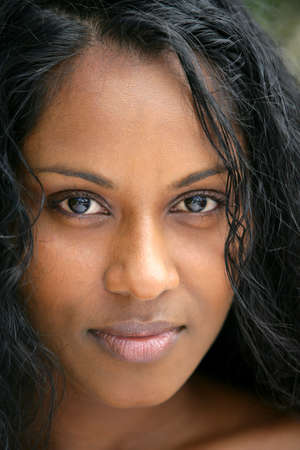 jamaican adult: African woman head-shot Stock Photo