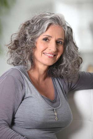 youthful: Youthful senior woman
