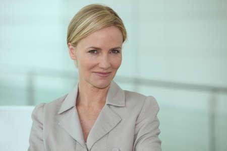 Portrait of blonde executive photo