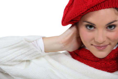 Woman wearing warm clothing Stock Photo - 14210909