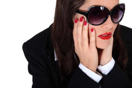 Glamorous woman with flashy make-up Stock Photo - 14203930