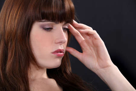 Woman suffering from headache Stock Photo - 14213656