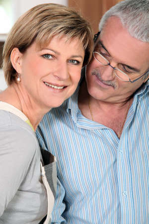 adore: Man looking affectionately at wife