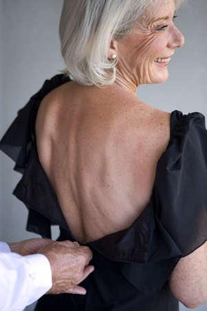 danseuse flamenco: Femme vêtue d'une robe avec un bas du dos