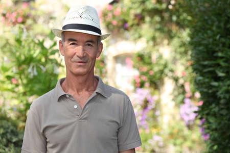 Elderly man with hat Stock Photo - 14214093