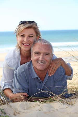 Couple on the beach photo