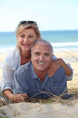 well maintained: Couple on the beach