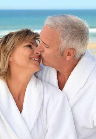 senior couple on vacation photo