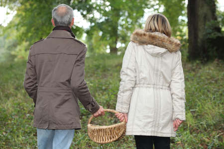 Couple in the woods Stock Photo - 14214692