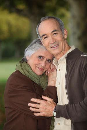 elderly couple: Elderly couple taking a walk