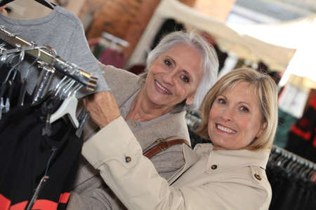 happy shopping: Mature women shopping.
