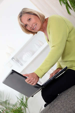 everyday people: Woman on laptop