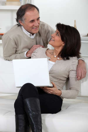 Mature couple at home photo