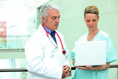 doctor and nurse with computer Stock Photo - 14207819