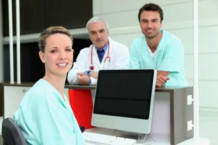 registered nurse: Healthcare professionals Stock Photo