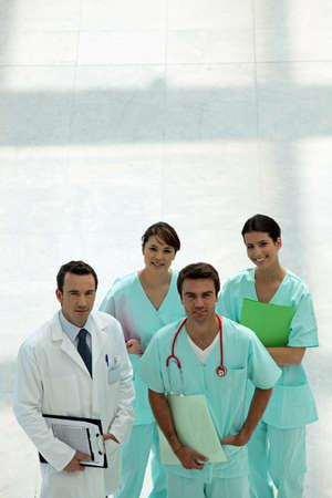 reassure: hospital teamwork Stock Photo