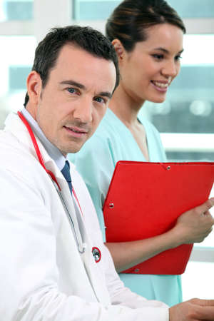 reportedly: Doctor and nurse Stock Photo