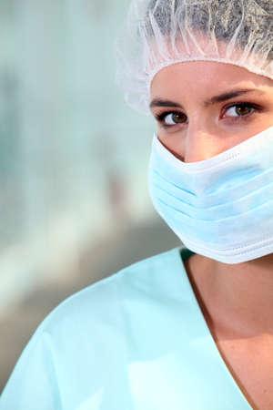 nurse wearing surgical mask Stock Photo - 14207762