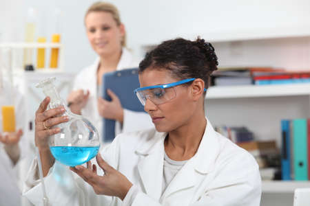 Two woman in laboratory photo