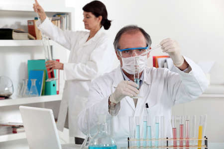 essays: Medical Laboratory Stock Photo