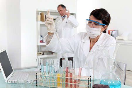 scientist making tests in a medical lab Stock Photo - 14206449