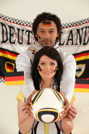 dishy: German football fans