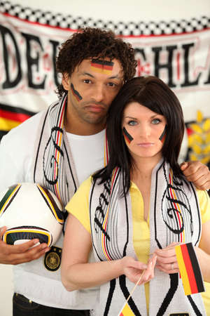 Disappointed Germany fans photo