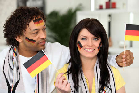 Patriotic German couple photo