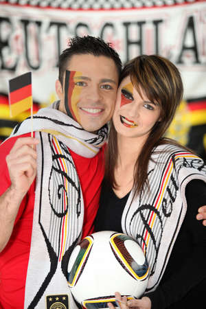 Proud German couple photo