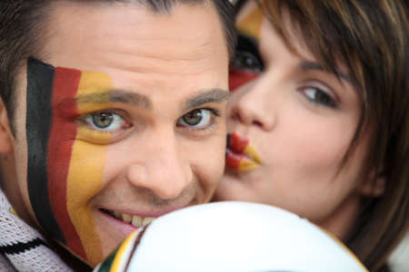 couple of German soccer supporters photo