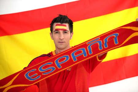 Spanish football supporter photo