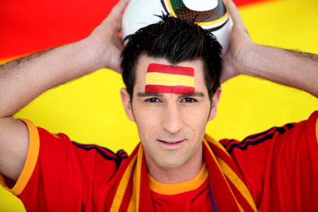 supporter: Enthusiastic Spain supporter