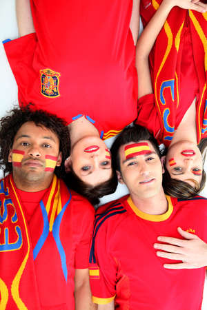 Spanish football fans photo