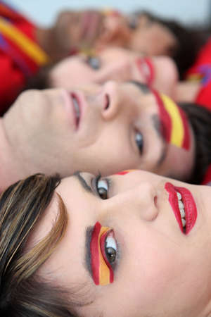 Passionate Spanish fans photo