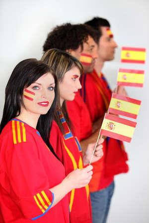 Spanish soccer fans Stock Photo - 14207763