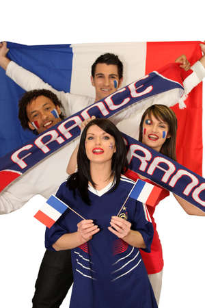 avid: Four avid French sport fans