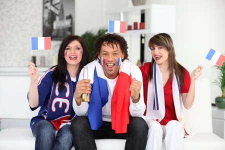 French fans at home photo