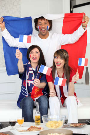 French football fans photo