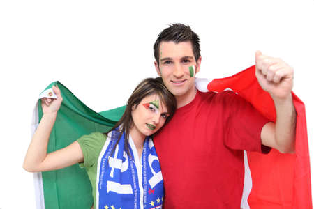 supporters: Italian football supporters