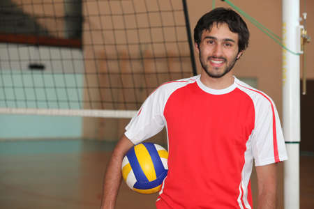 Man playing volleyball photo