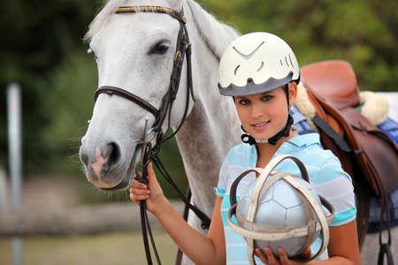 polo player: Female polo player
